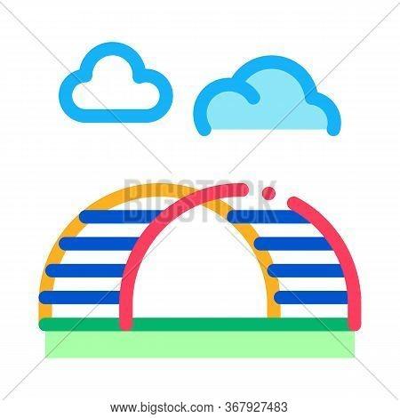 Semicircular Hill Ladder Rainbow Icon Vector. Semicircular Hill Ladder Rainbow Sign. Color Symbol Il