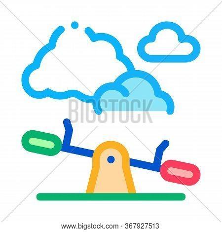 Ground Slide Swing Icon Vector. Ground Slide Swing Sign. Color Symbol Illustration