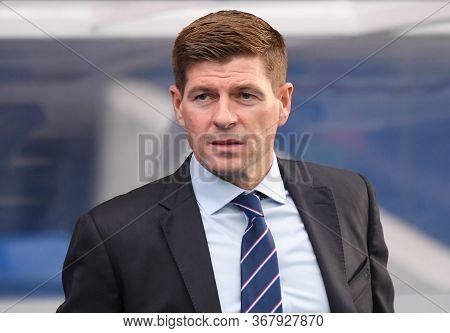 Glasgow, Scotland - July 18, 2019: Rangers Manager Steven Gerrard Pictured Prior To The 2nd Leg Of T