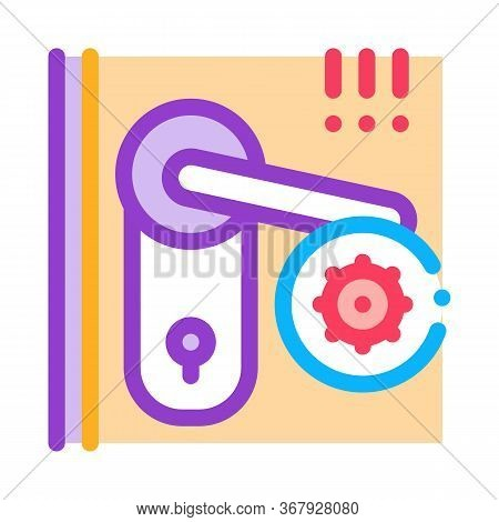 Pests In Keyhole Icon Vector. Pests In Keyhole Sign. Color Symbol Illustration