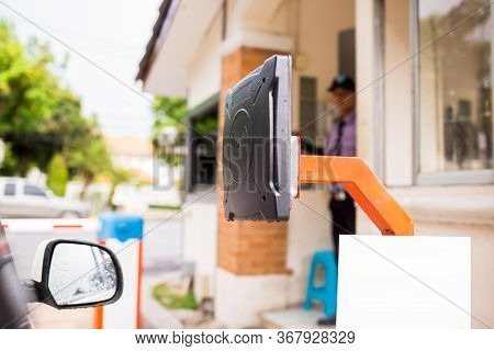 Rfid Reader Of Car Access Control To Open The Door For Safety System.