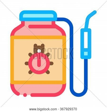 Portable Poison Tank For Beetles Icon Vector. Portable Poison Tank For Beetles Sign. Color Symbol Il