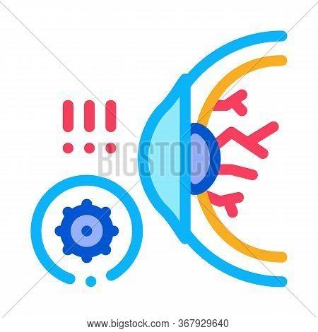 Visual Impairment Icon Vector. Visual Impairment Sign. Color Symbol Illustration