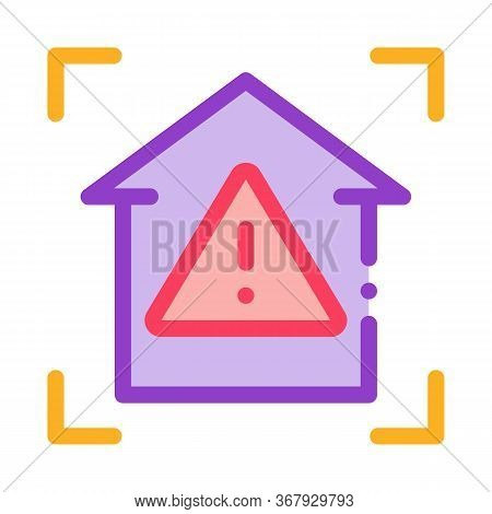 Unsafe Home Detection Icon Vector. Unsafe Home Detection Sign. Color Symbol Illustration