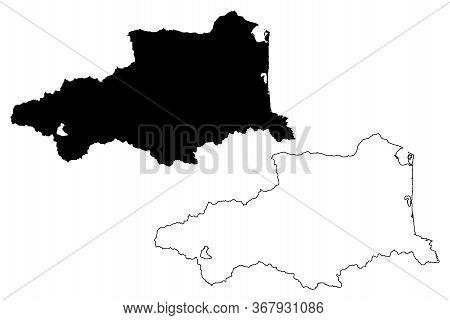 Pyrenees-orientales Department (france, French Republic, Occitanie Or Occitania Region) Map Vector I