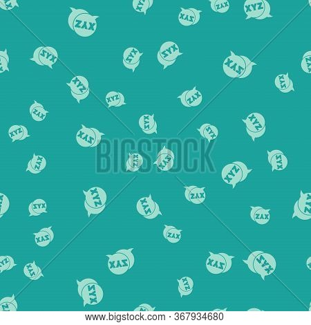 Green Xyz Coordinate System Icon Isolated Seamless Pattern On Green Background. Xyz Axis For Graph S
