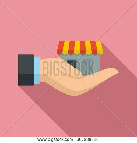 Take Care Franchise Business Icon. Flat Illustration Of Take Care Franchise Business Vector Icon For