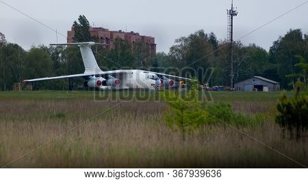 Hostel, Ukraine - May 17, 2020: Il-76 Airplane Registration Number Ur-cpv Is Parked At The Airport.