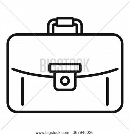 Business Leather Bag Icon. Outline Business Leather Bag Vector Icon For Web Design Isolated On White