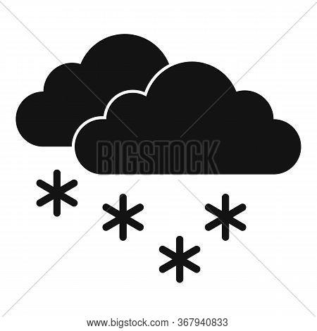 Zero Temperature Blizzard Icon. Simple Illustration Of Zero Temperature Blizzard Vector Icon For Web