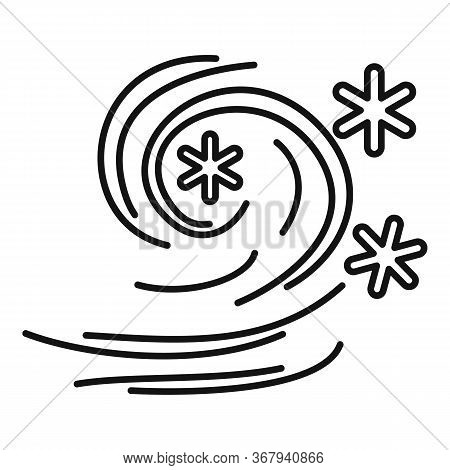 Wind Blizzard Icon. Outline Wind Blizzard Vector Icon For Web Design Isolated On White Background