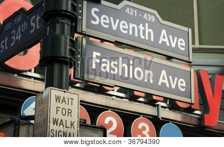 7Th Avenue Sign, New York