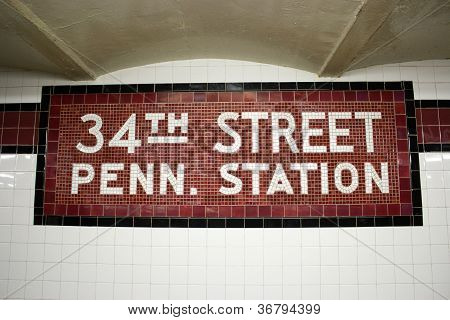 34Th St. Subway Station, New York