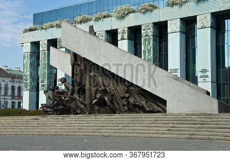April 20, 2019. Warsaw, Poland - Warsaw Uprising Monument In Warsaw City.