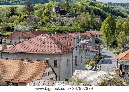 Banska Bela Village, Stiavnica Mountains In Slovak Republic. Travel Destination.
