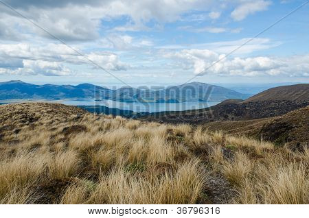 The View On The Way Down From Tongariro National Park, New Zealand