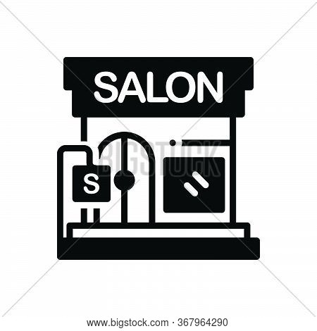 Black Solid Icon For Beauty-salon Beauty Salon Barbershop Glamour