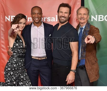 LOS ANGELES - JAN 11:  Sarah Wayne Callies, J. August Richards, Clive Standen and Michael O'Neill on the red carpet at the NBCUniversal Winter TCA 2020 on January 11, 2020 in Pasadena, CA