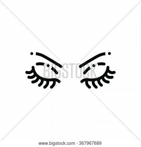 Black Solid Icon For Brow  Eyebrow Glamour Makeup Eye