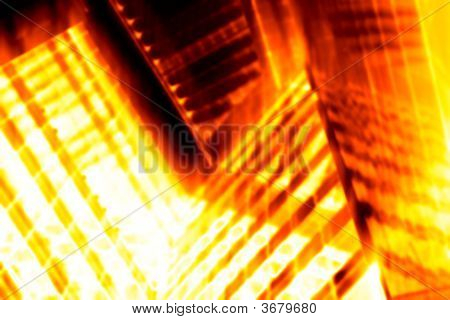 Abstract Flaming Background With Hot Heat Fire poster