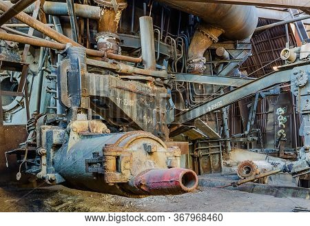 In The Old Blast Furnace Shop