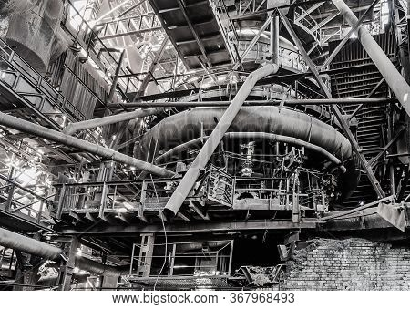 Old Blast Furnace Of The Iron Works