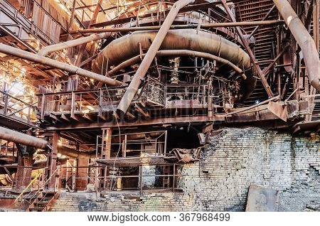 Metal Constructions In The Old Blast Furnace Shop