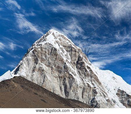 View Of Pumori From Everest Base Camp, Khumbu Valley, Sagarmatha National Park, Nepal Himalaya. Pumo