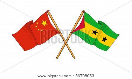 China And S�o Tom� And Pr�ncipe Alliance And Friendship