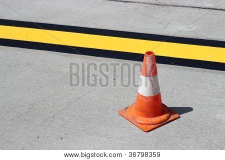Cone, road markings
