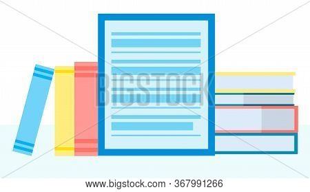 Online Library, E-book, Digital Book Store, E-reading, Online Learning, Education Concept. Vector Il