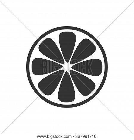 Orange Slice Icon Isolated On White Background. Vector Illustration
