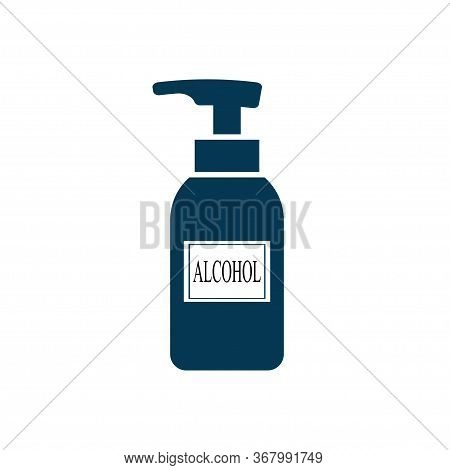 Alcohol Spray Icon Isolated On White Background. Vector Illustration
