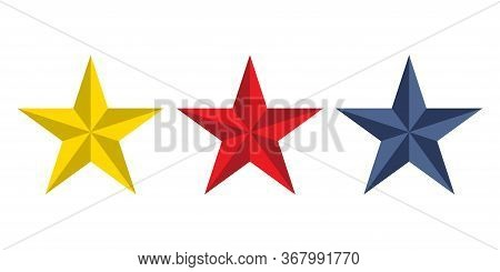 Star Icons Isolated On White Background. Vector Illustration