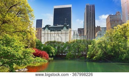 Midtown Manhattan Skyline From Central Park, New York City