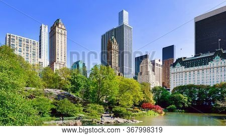 New York, Usa - May 07, 2019: Midtown Manhattan Skyline From Central Park, New York City