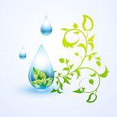 vector green eco background design poster