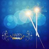 vector diwali festival crackers on artistic vector background poster