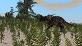 einiosaurus in field poster
