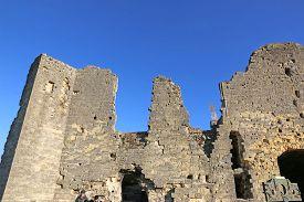Ruined Walls Of Valkenburg Castle In The Netherlands