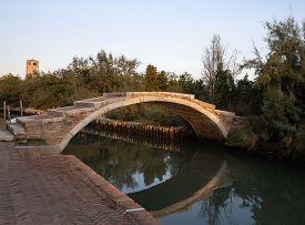 Devil's Bridge (ponte Del Diavolo) On The Island Of Torcello, Venice, Italy.