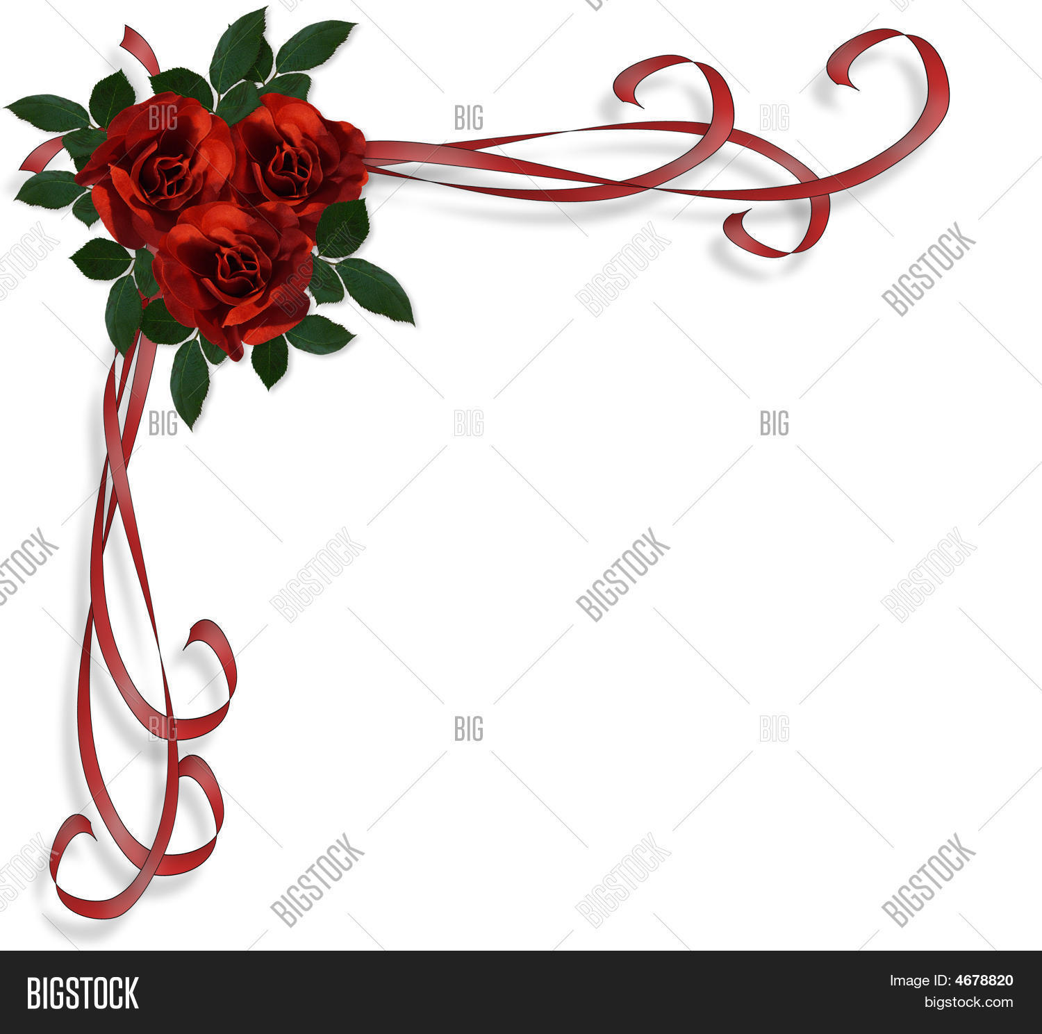 Red Roses Border Image & Photo (Free Trial) | Bigstock
