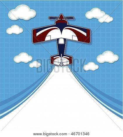 biplane cartoon background