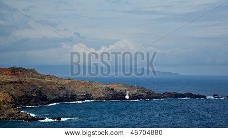 Blowhole On Maui's Coast
