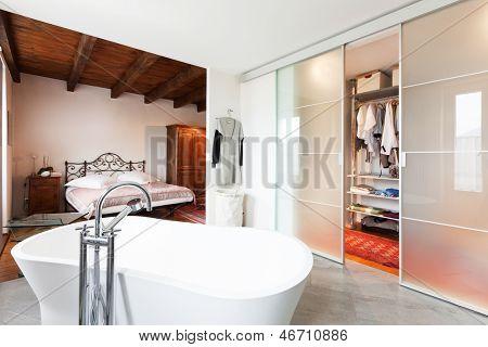 interior of beauty house, bathroom