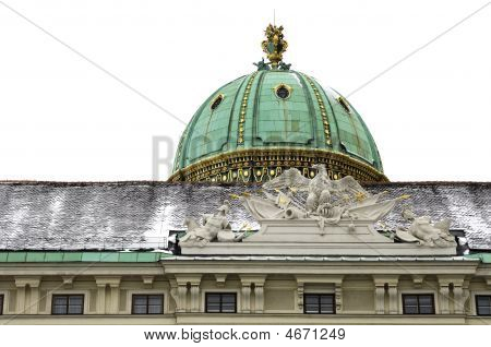 Hofburg Imperial Palace bronze dome above the Michaeler Gate Vienna Austria poster