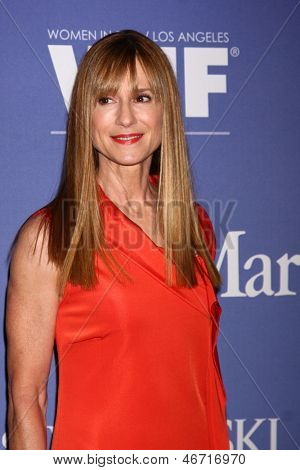 LOS ANGELES - JUN 12:  Holly Hunter arrives at the Crystal and Lucy Awards 2013 at the Beverly Hilton Hotel on June 12, 2013 in Beverly Hills, CA