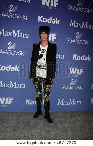 LOS ANGELES - JUN 12:  Diane Warren arrives at the Crystal and Lucy Awards 2013 at the Beverly Hilton Hotel on June 12, 2013 in Beverly Hills, CA