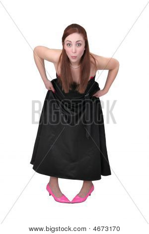 Funny Woman In Black