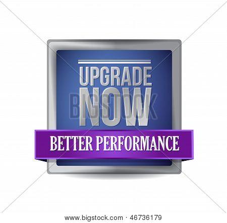 Upgrade Now Blue Shield Illustration Design